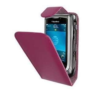Modern Tech Pink PU Leather BlackBerry 9800 Torch Clip and