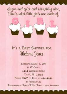 BABY SHOWER INVITATIONS U PRINT MANY DESIGNS FAST