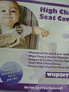 Wupzey Highchair Seat Cover BLUE STRIPS BABY NEW
