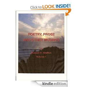 Poetry, Prose and Other Musings of Russell H. Grafton