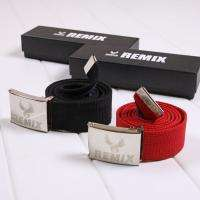 44 inches Mens boy Cotton Canvas belt Reflective metal belt buckle New