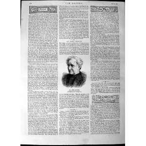 1890 Portrait Mr James Nasmyth Inventor Steam Hammer