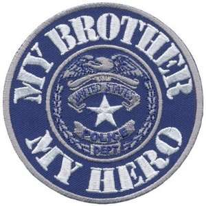 My BROTHER My Hero POLICE OFFICER Law Enforcement Cop Quality Biker