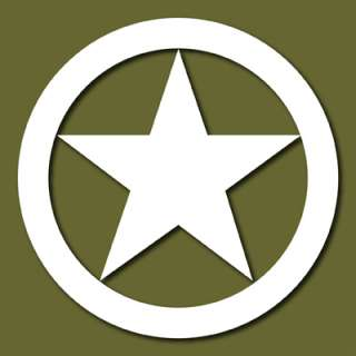 WWII Jeep Star Army Marines Vinyl Decal Sticker VLJEEP1