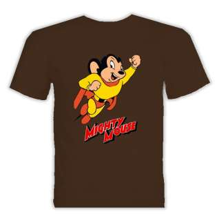 Mighty mouse classic cartoon t shirt