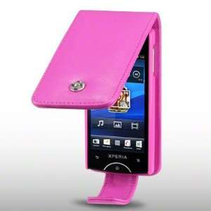 RAY SOFT PU LEATHER FLIP CASE BY CELLAPOD CASES HOT PINK Electronics