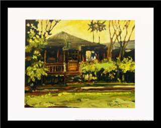 SET   Palm Tree Beach house art FRAMED PRINTS