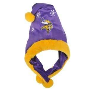 Minnesota Vikings NFL Official Team logo Stadium Dangle Santa Hat *NEW