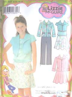 Simplicity 4261 Girls Lizzie McGuire Sewing Pattern