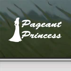 Pageant Princess Beauty Queen White Sticker Laptop Vinyl