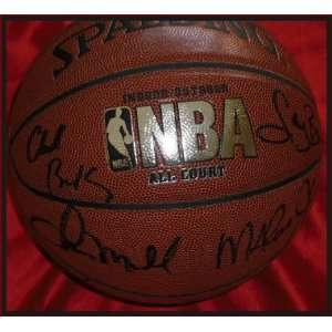 Michael Jordan, Larry Bird and Magic Johnson Autographed Basketball