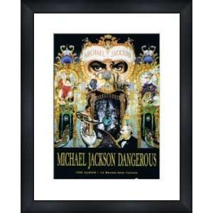 MICHAEL JACKSON Dangerous   Custom Framed Original Ad   Framed Music