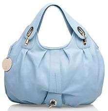NEW GUSTTO Capri Ink Blue Leather Hobo Bag Handbag NWT SoldOut $675