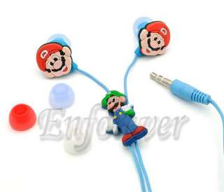 Super Mario Luigi 3.5mm Headset Earphone Earbud^HP884