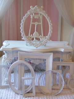 VTG SHABBY COTTAGE CHIC WHITE FRENCH COUNTRY ORNATE PICTURE FRAME LOT