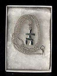 Small INUIT Safe Journey   Survivor Necklace INUKSHUK