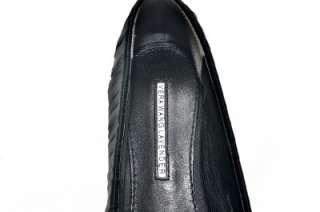 Vera Wang Black Leona Satin Ballet Flats Sandals Shoes $195 Sz 7