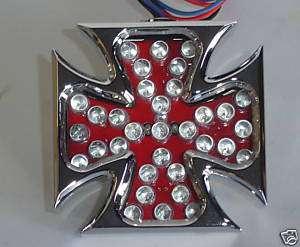 LED Maltese Cross Turn Signal Lights for Harley