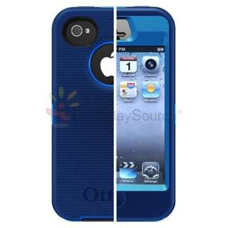 For iPhone 4 4G 4S UNIVERSAL OtterBox Defender Case Blue/Black