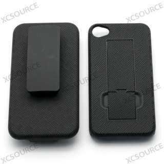 hard case cover stand belt clip guard holster for iphone 4 4G 4S PC130
