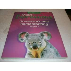 Math Expressions, Grade 1 Homework and Rembering