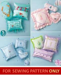 SEWING PATTERN! MAKES DISNEY PRINCESS FANCY PILLOWS! CINDERELLA
