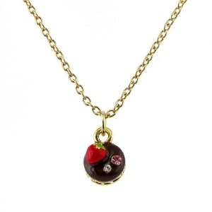 Perfect Gift   High Quality Glistering Chocolate Cake Pendant with