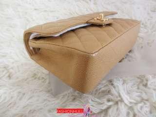 Beige / Gold Caviar Small 2.55 Double Flap Handbag Shoulder bag