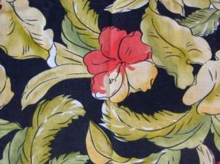 EUC Womens Talbots Petites Black Floral Linen Skirt 8