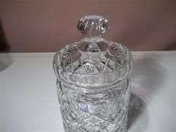 CRYSTAL CLEAR INDUSTRIES CUT CRYSTAL CANDY JAR WITH LID MINT W