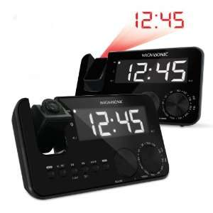 Magnasonic MAAC500 AM/FM Projection Clock Radio with