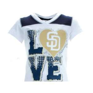 San Diego Padres 5th and Ocean MLB Girls Baby Jersey Vneck