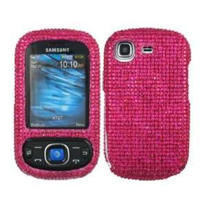 Hot Pink Bling Rhinestone Faceplate Diamond Crystal Hard