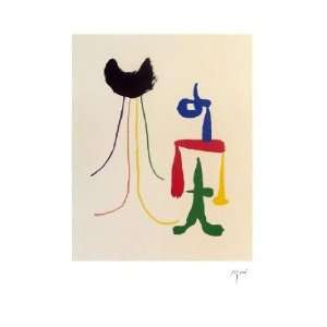 Joan Miro   Illustrated Poems parler Seul Lithograph Plate Signed