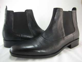 Haan Mens Air Kilgore Chelsea Black Pull on Casual Fashion Ankle Boots