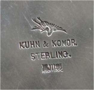 JAPANESE STERLING SILVER GOBLET ART NOUVEAU KUHN KOMOR
