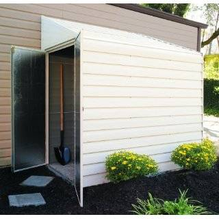 4 X 10 Lean to Storage Shed Project Plans  Design #10410