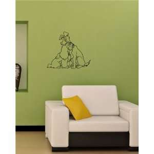 Wall Vinyl Sticker Decal Mural Lady and the Tramp O43