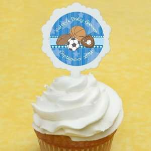All Star Sports   12 Cupcake Picks & 24 Personalized