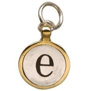 Waxing Poetic Monogram Charm Pendant Initial Silver e
