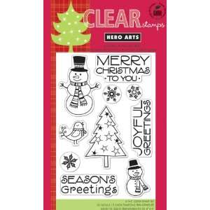 Hero Arts Clear Stamps, Snowman Christmas   899306 Patio