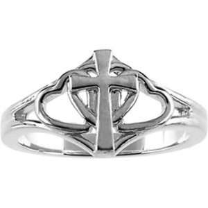 Size 8   Sterling Silver Covenant Hearts Chastity Ring Jewelry