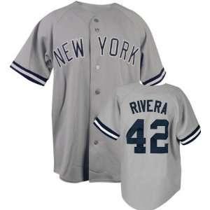 Mariano Rivera Majestic MLB Road Grey Replica New York Yankees Jersey