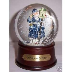 Santa Claus Christmas Greeter Musical Snow Globe