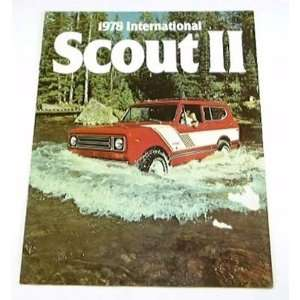 1978 78 International SCOUT II Truck BROCHURE Everything