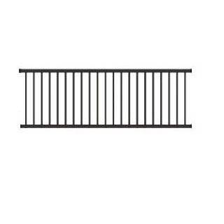 Wrought Iron Deck Fence Railing   5 ft High x 8 ft Long. 3 Rail