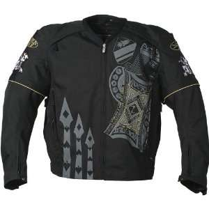 JOE ROCKET LUCKY TEXTILE JACKET MENS BLACK/BLACK/GRAY XL