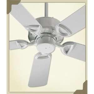 Quorum 143425 6 Estate Patio Ceiling Fan 5 Blades 42, White Finish