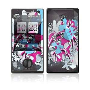 Paint Splash Decorative Skin Cover Decal Sticker for HTC Touch Diamond