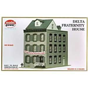 Delta Frat House Building Kit HO Scale Model Power Toys & Games